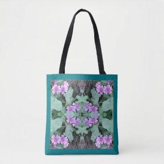 Mauve Ground Flower Fractal 1 Tote Bag