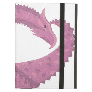 Mauve heart dragon on white iPad air case