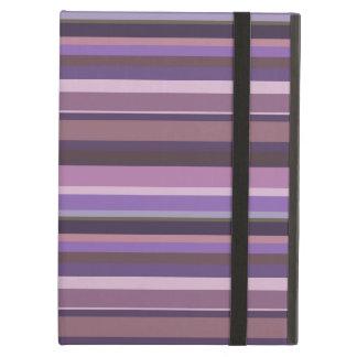 Mauve horizontal stripes case for iPad air
