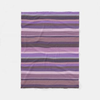 Mauve horizontal stripes fleece blanket
