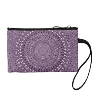Mauve mandala coin purse