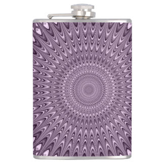 Mauve mandala hip flask