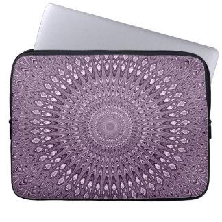 Mauve mandala laptop sleeve