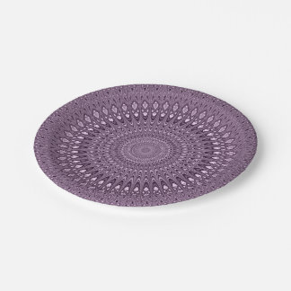 Mauve mandala paper plate