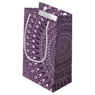 Mauve mandala small gift bag