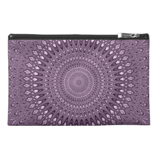 Mauve mandala travel accessory bag