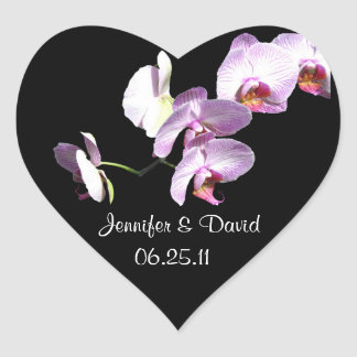 Mauve Orchid Wedding Stickers