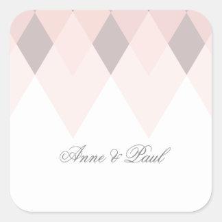 Mauve & pink geometric sticker