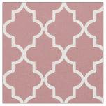 Mauve Pink Moroccan Quatrefoil Fabric