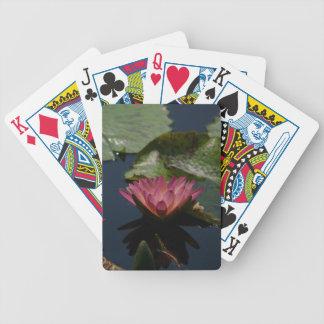 Mauve Pink Purple Waterlily Lotus Playing Cards