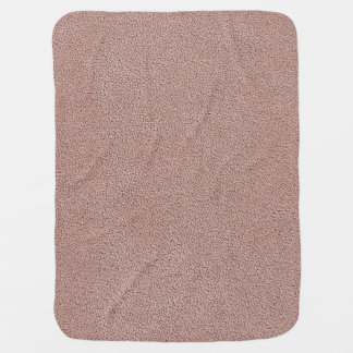 Mauve Pink Ultrasuede Look Baby Blanket
