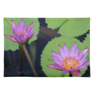 Mauve pink water lilies placemat