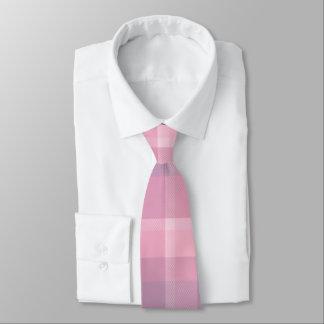 Mauve Plaid Pattern Tie