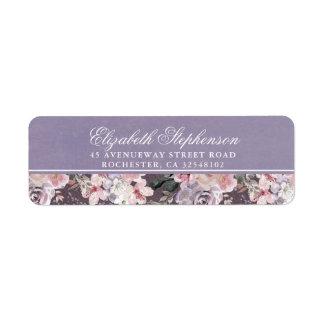 Mauve Plum and Lilac Vintage Floral Wedding
