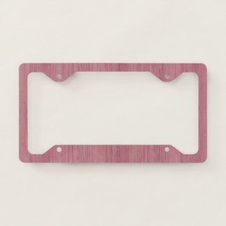 Mauve Purple Bamboo Wood Grain Look License Plate Frame