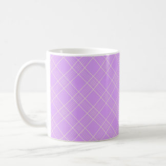 Mauve Purple Plaid Pattern Mugs