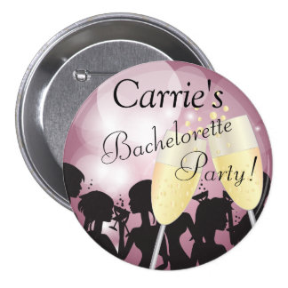 Mauve Rose Bachelorette Diva Girls Night Out 3 Inch Round Button