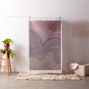 Mauve Strata   Dusty Pink Rose Gold Grey Agate Fabric
