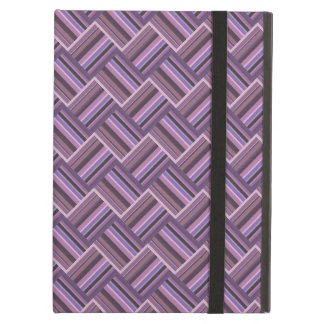 Mauve stripes diagonal weave pattern iPad air cover
