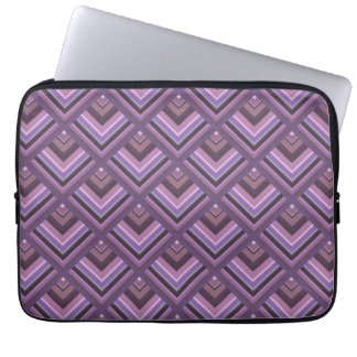 Mauve stripes scale pattern laptop sleeve