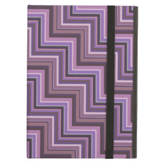 Mauve stripes stairs pattern cover for iPad air