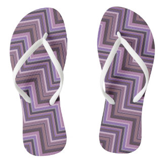 Mauve stripes stairs pattern flip flops