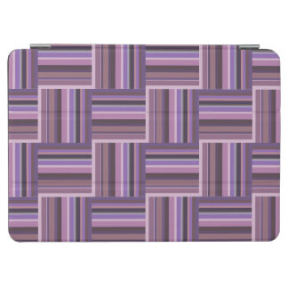 Mauve stripes weave pattern iPad air cover