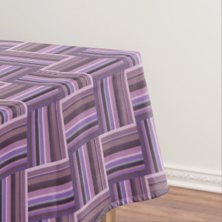 Mauve stripes weave pattern tablecloth