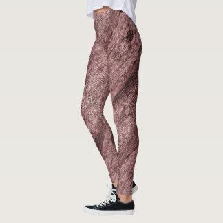 Mauve textured leggings