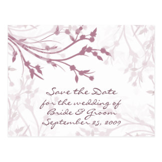 Mauve Tree Branches - Save the Date Postcard