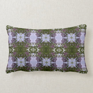 Mauve Tree Flower & Sky Fractal Lumbar Pillow