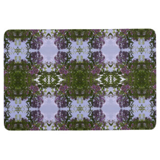 Mauve Tree Flower & Sky Photo fractal Floor Mat