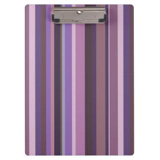 Mauve vertical stripes clipboard