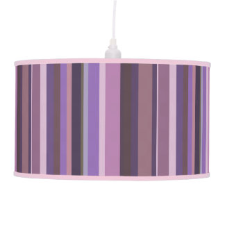 Mauve vertical stripes hanging pendant lamps
