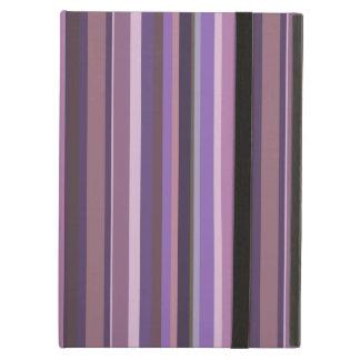 Mauve vertical stripes iPad air cases