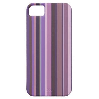 Mauve vertical stripes iPhone 5 cases