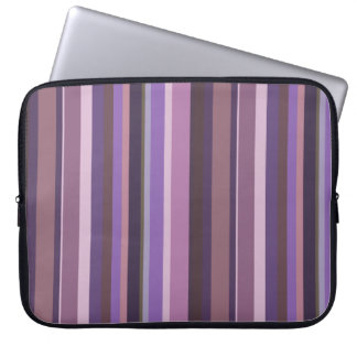 Mauve vertical stripes laptop sleeve