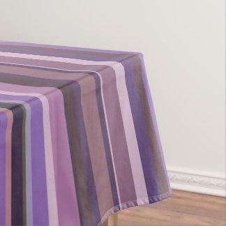 Mauve vertical stripes tablecloth