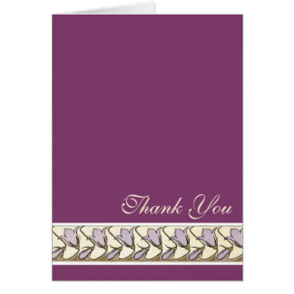 Mauve Vintage Pink Bell Flower Thank You Note Card