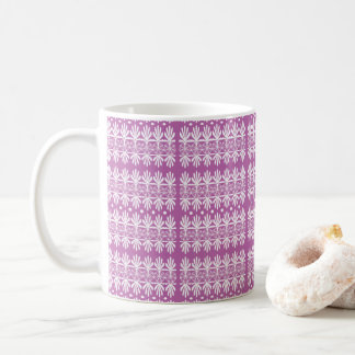 Mauve White Decorative Mug