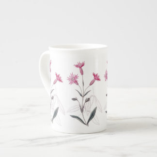 Mauve Wildflowers Botanical Bone China Mug
