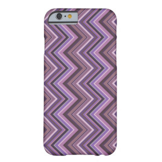 Mauve zigzag stripes barely there iPhone 6 case