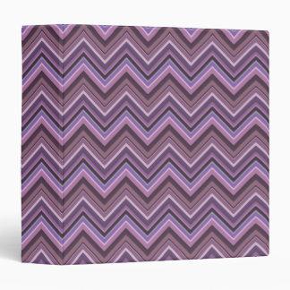 Mauve zigzag stripes binders