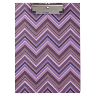 Mauve zigzag stripes clipboard