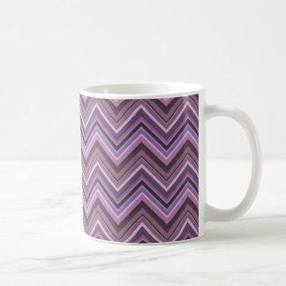 Mauve zigzag stripes coffee mug