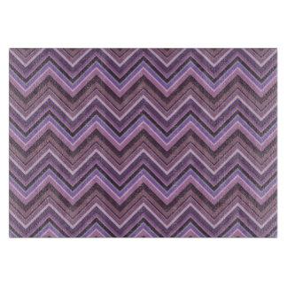 Mauve zigzag stripes cutting board