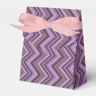 Mauve zigzag stripes favor box