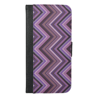 Mauve zigzag stripes iPhone 6/6s plus wallet case