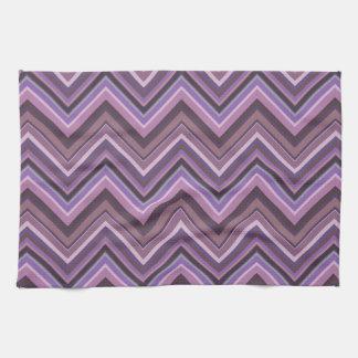 Mauve zigzag stripes kitchen towel