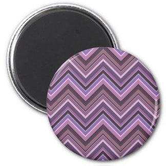 Mauve zigzag stripes magnet
